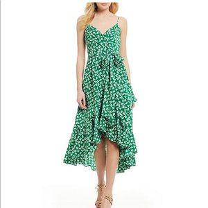 NWT Eliza J Floral Print Wrap Midi Dress Size 6